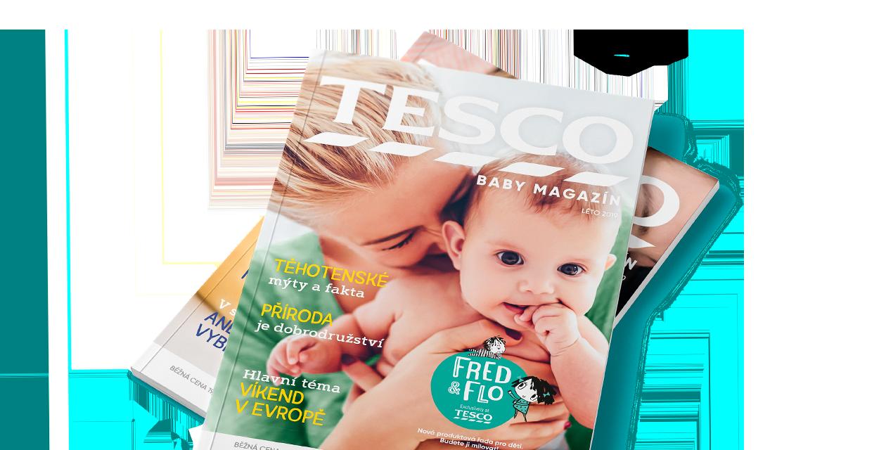 okładka czeskiego wydania Tesco Baby Magazynu